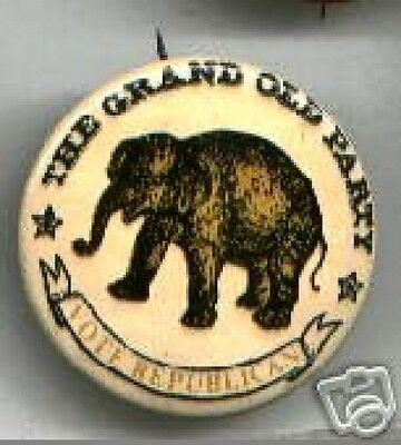 24 Vote REPUBLICAN old ELEPHANT logo pin 1960s