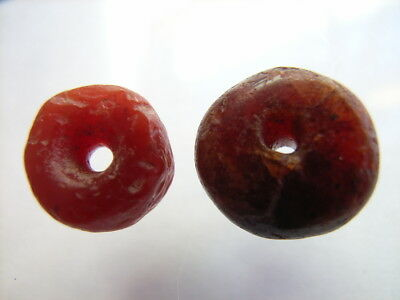 2 Ancient Egyptian Carnelian Beads, Egypt VERY RARE!