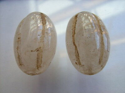 2 Ancient Egyptian Rock Crystal Beads, Egypt VERY RARE!