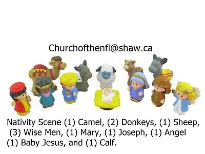New Fisher-Price Little People Nativity Christmas Figure Set of 12