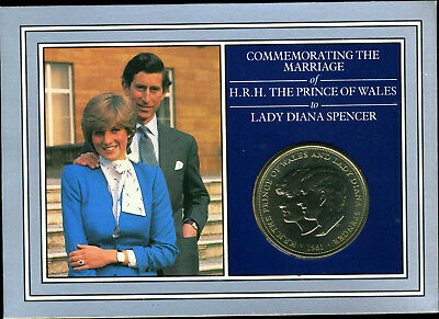 1981 The Marriage Of Prince Of Wales & Lady Diana Spencer Crown. POST FREE IN UK