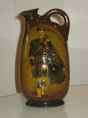 "Vintage Royal Doulton Dewars ""pipe Major"" Whisky Flask"