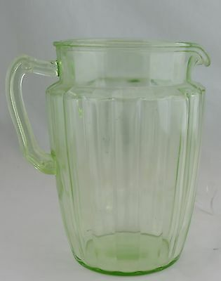 Vintage Vaseline Glass Green Water/wine Pitcher Glassware