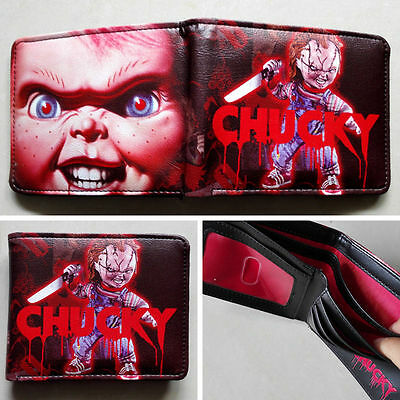 Movie Child's Play Chucky Logo 12cm Leather Wallets Purse Gift #New61