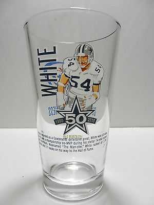 Dallas Cowboys NFL Miller Lite 50th Anniversary Randy White Pint Beer Glass
