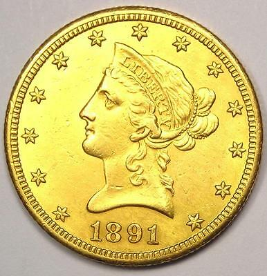 1891-CC Liberty Gold Eagle $10 Coin - Excellent Condition - Nice Luster!