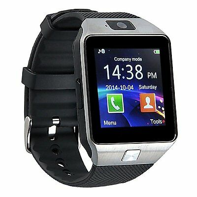 Bluetooth 3.0 Reloj Inteligente Cámara Tarjeta SIM  Android iOS Smart Watch New