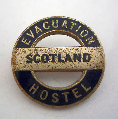 Ww2 Home Front Scotland Evacuation Lapel Badge By Hwm