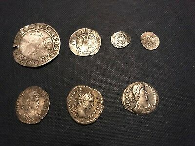 metal detecting finds Silver Roman & Hammered