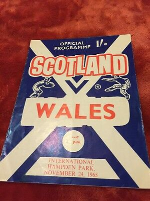 Scotland v Wales 1965 International Football Programme