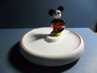 ANTIQUE MICKEY MOUSE ASHTRAY ? ca: 1930 GERMAN PORCELAIN FIGURINE SOAP DISH