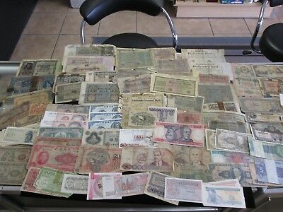 Lot of 300+ Vintage Mixed Foreign World Currency Paper Money Old Collection  NR