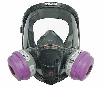 North by Honeywell , Silicone Full Face Respirators 7600 Series, Size: M/L