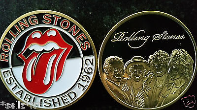 Rolling Stones Gold Commemorative Coin Music Group MICK JAGGER KEITH RICHARDS