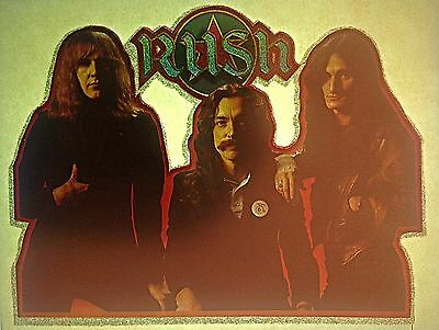 Vintage 70s Rush Iron-On Transfer Lee Peart Lifeson AWESOME Last One! RARE!