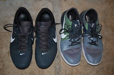 NIKE Sneakers Lot Men's 12 Shoes Black Air Mavin Low Gray Green FS Lite Trainer