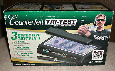 Portable UV Counterfeit Money Detector &Pen Fake Currency Bill Dollar Test Tool