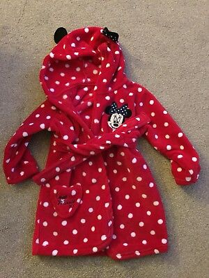 Minnie Mouse Dressing Gown Girls 12-18 Months