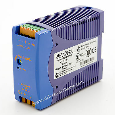 DRAN60-24, 24V DC, 2500mA, 60W, Power Supply, 100~240V AC input,