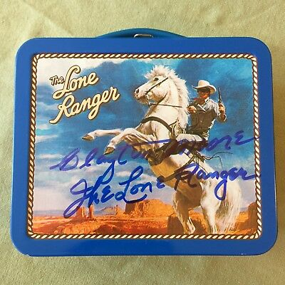 Clayton Moore Autographs The Lone Ranger Vintage Lunch Box
