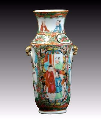 Antique 19Th Century Chinese Canton Famille Rose Vase