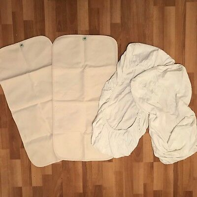 Snuzpod MATTRESS PROTECTORS x2 & SHEETS x2 Little Green Sheep Bundle VGC