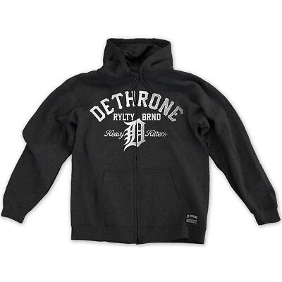 Dethrone Heavy Hitters Hoodie - Small - Charcoal Heather
