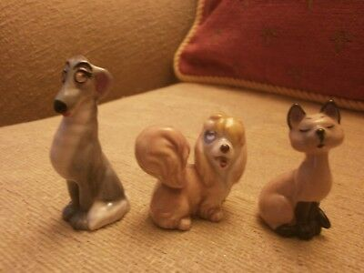Wade Three Vintage Disney Characters Incl Siamese Cat -good cond