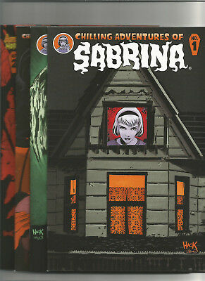 Chilling Adventures of Sabrina #1 & #2 (Archie Comics) Reg & Variant Cover NM