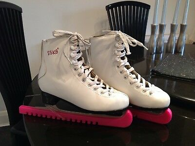 Ladies White Ice Skating Boots Size 5