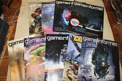 Lot of nine issues of gameinformer