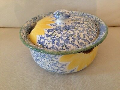 Poole Pottery Vincent Sunflowers Handpainted Vegetable Tureen and Lid