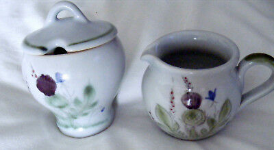 Buchan Pottery  Sugar Bowl and Cream Jug