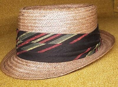 Vintage De Luxe Palm Beach Fedora by Hat Corporation of America 7 1/8 Style
