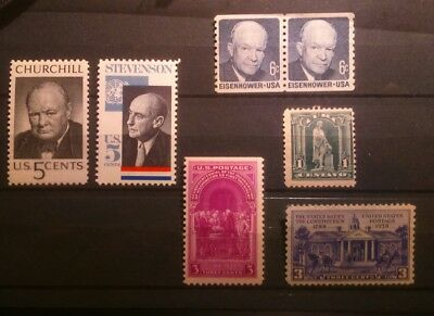 Stamps USA small sélection mint no mounted original gum impeccables..