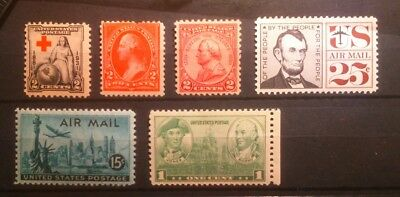 Stamps USA small sélection mint light mounted original gum perfect.