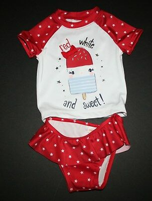 NEW Gymboree Red White Sweet Popsicle 2 Pc Swimsuit NWT 12-18M 18-24M 2 3T 4 5T