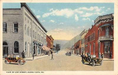 Buena Vista Virginia Street Scene Historic Bldgs Antique Postcard K77443