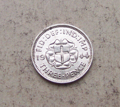 scarce 1944 silver 3d with nice lustre