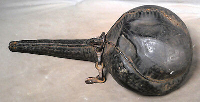 Antique Tribal Art Camel Scrotum Leather Gun Powder Flask Morocco Bedouiin Nomad