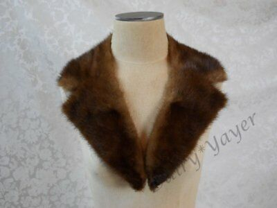 vintage Brown FUR notched Unlined COLLAR beaver? #213