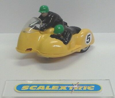 SCALEXTRIC Tri-ang Vintage 1960's B1 TYPHOON MOTORCYCLE & SIDECAR in YELLOW #5