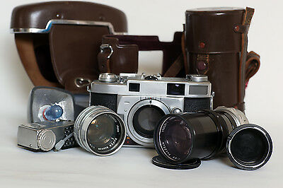 "MINOLTA SUPER ""A""  f1.8 f=5cm & f4.5 =13.5cm UNBELIEVEABLY RARE COMBINATION"