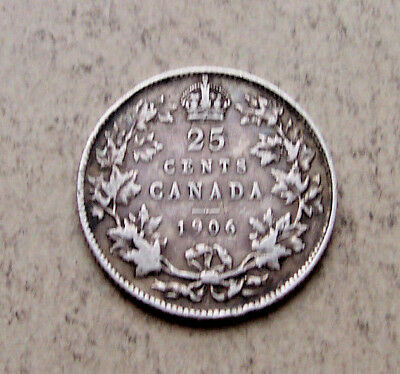 1906 Canada 25 cents