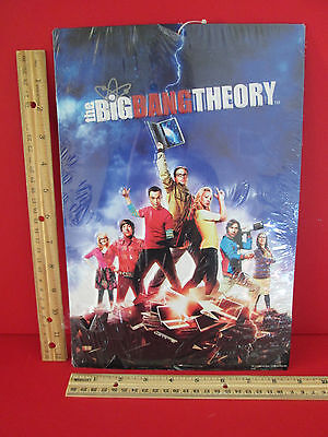 NEW The Big Bang Theory Metal Tin By Open Road Wall Sign Leonard Penny Sheldon +