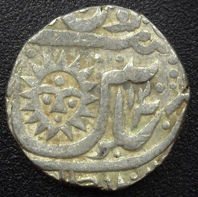 Indore, India Ah1294//120 Silver Rupee Km#76  Choice Extremely Fine