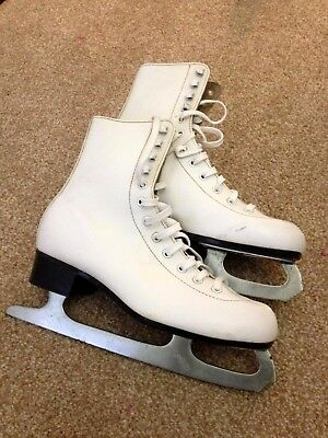 Ice skates, White, Size  40 (UK 7), Pre-loved in good condition