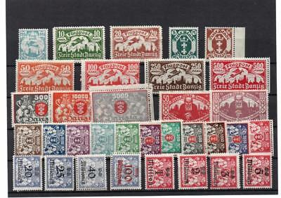"""Germany Early """"Danzig"""" Stamps on Card Mounted Mint  G93"""