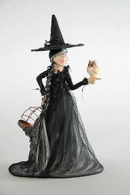 "Witch with Owl Figurine 13"" Halloween Katherine's Collection New"