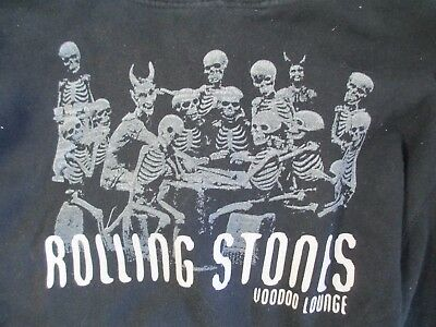 2006 The Rolling Stones Voodoo Lounge Tour Black Pullover Hoodie - Size Large